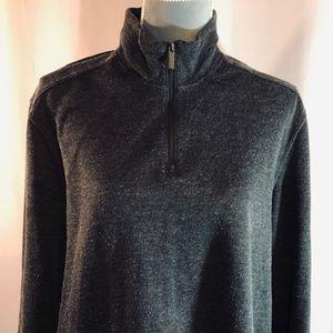 Perri Ellis Half-Zip Long Sleeve Grey Sweater